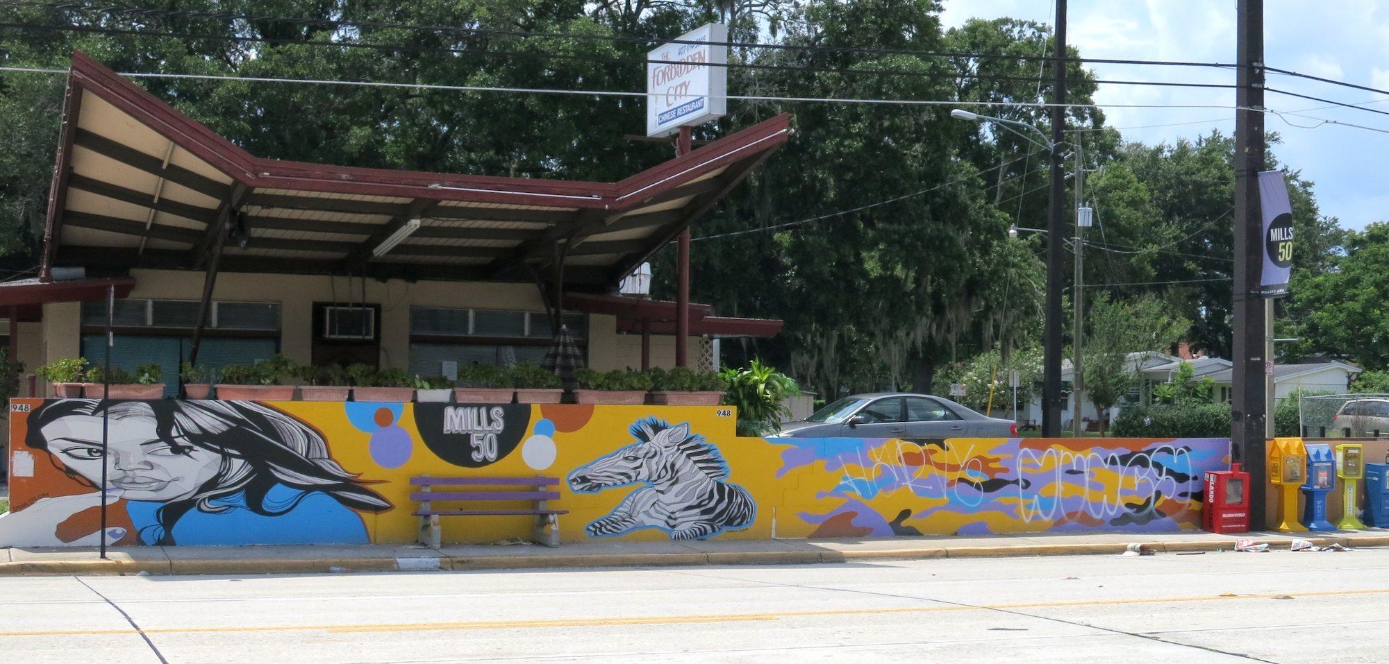 Mills 50 Mural Vandalized