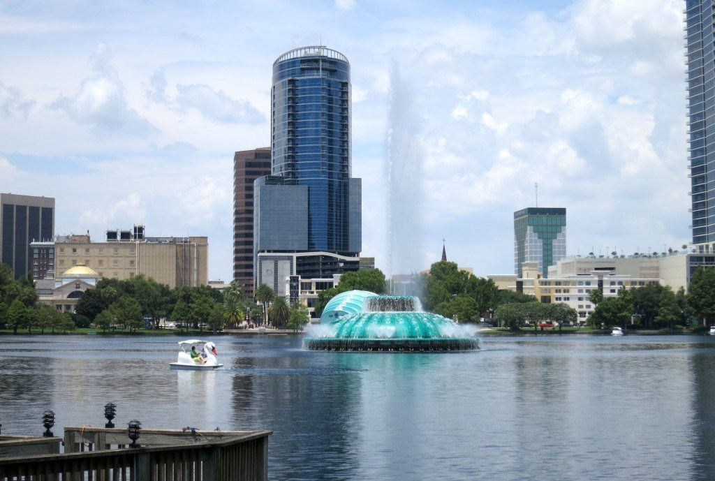 Lake Eola with Swan Boat
