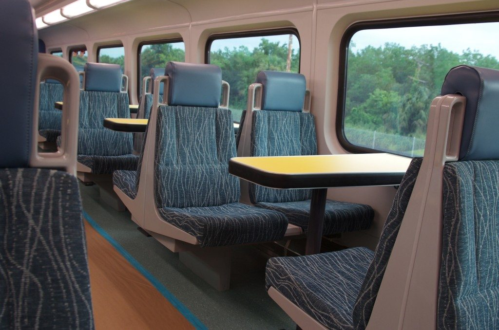 sunrail car inside