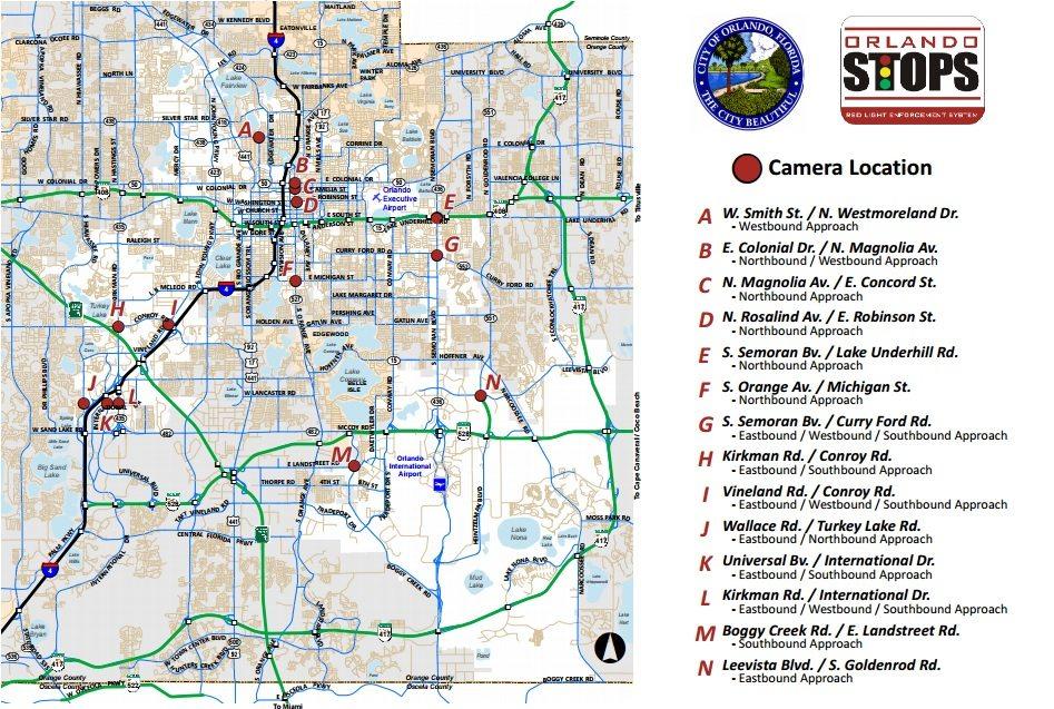 Map courtesy of City of Orlando