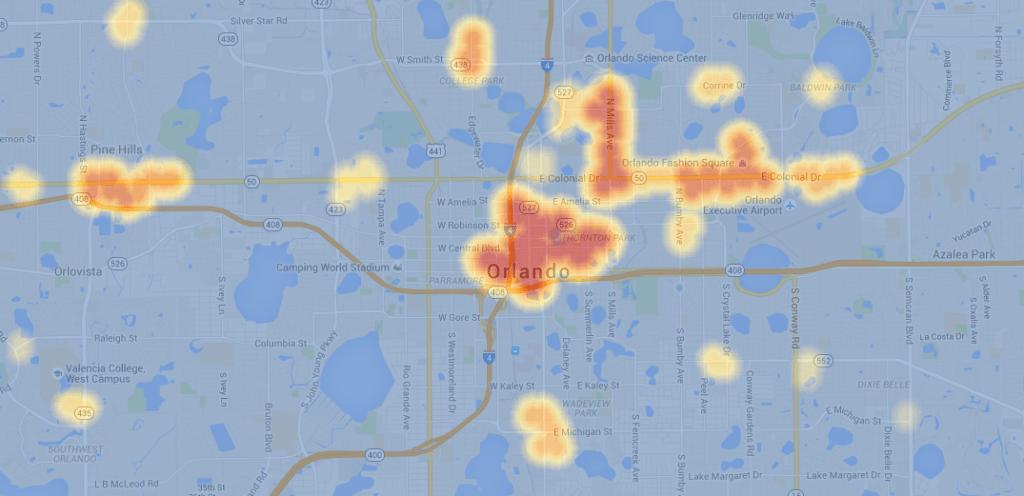 Restaurant Hot Spots map via Sensarie.com