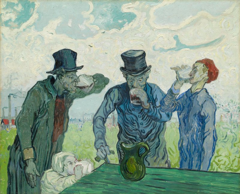 The Drinkers, 1890 - Vincent Van Gogh